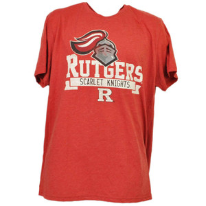 NCAA Rutgers Scarlet Knights Red XLarge Tshirt Tee Mens Short Sleeve Crew Neck