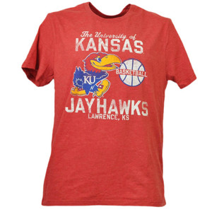 NCAA Kansas Jayhawks Basketball Tshirt Tee Mens Medium Adult Sport Short Sleeve
