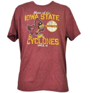 NCAA Iowa State Cyclones Ames IA Basketball XLarge Mens Tshirt Tee Burgundy Adult