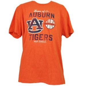 NCAA Auburn Tigers Basketball Orange Tshirt Tee Mens 2XLarge Crew Neck Sports