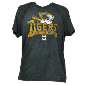 NCAA Missouri Tigers Mizzou XLarge Tshirt Tee Gray Mens Adult Sports Crew Neck