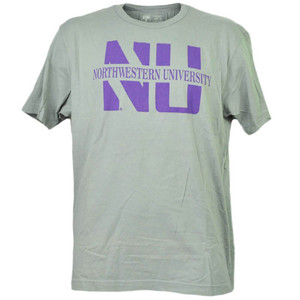 NCAA Northwestern Wildcats Medium Tshirt Tee Mens Adult Gray Short Sleeve Sports