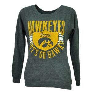 NCAA Iowa Hawkeyes Lets Go Hawks Thermal Long Sleeve Womens XSmall Tshirt Tee