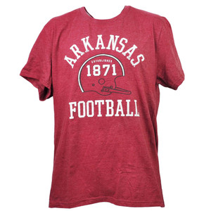 NCAA Arkansas Razorbacks Football Helmet 1871 Burgundy XLarge Tshirt Tee Mens