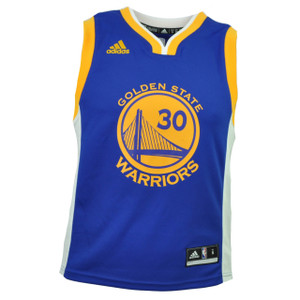 NBA Golden State Warriors Stephen Curry 30 Kids Jersey Royal Blue HWC