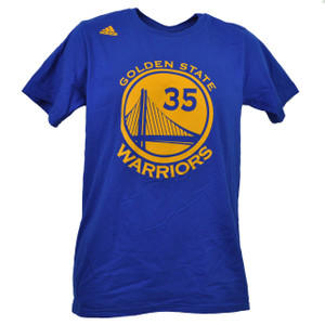 NBA Adidas Golden State Warriors Kevin Durant 35 Go To Tee Tshirt Blue Mens HWC