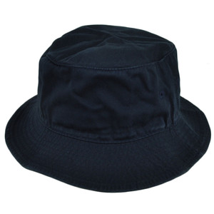 American Needle Blank Plain Navy Blue Bucket Hat Sun Fitted Small Medium Crusher