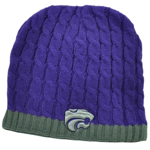 NCAA Kansas State Wildcats K State Purple Crochet Knit Beanie Cuffless Winter