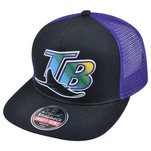 MLB American Needle Tampa Bay Rays Gatekeeper Retro Throwback Snapback Cap Hat