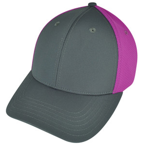 American Needle Blank Two Toned Sportswear Pink  Plain Curved Bill Hat Cap