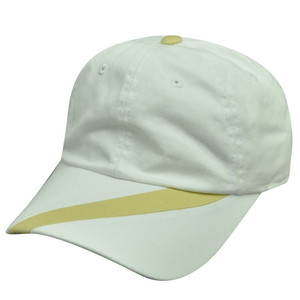 American Needle Side Stripe  White Beige Hat Cap Relaxed Fit Adjustable