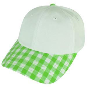 American Needle Blank Ladies Fit Green Plaid Sun Buckle Curved Womens Hat Cap