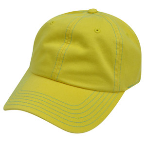 American Needle Yellow Ladies Womens Fit Blank Plain Relaxed Sun Buckle Hat Cap