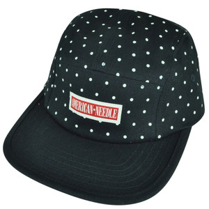 American Needle Polka Dot Fatigue Navy Red Sun Buckle Hat Cap Brand Flat Bill