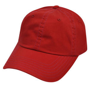 American Needle Red Ladies Womens Fit Blank Plain Relaxed Sun Buckle Hat Cap