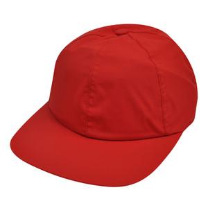 American Needle Red Nylon Hat Cap Relax Blank Plain Flexible Sun Buckle Flat Bill