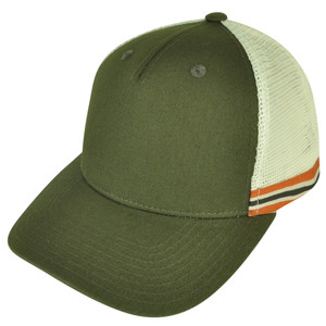 American Needle Green Blank Two Toned Mesh Back Snapback Curved Bill Hat Cap