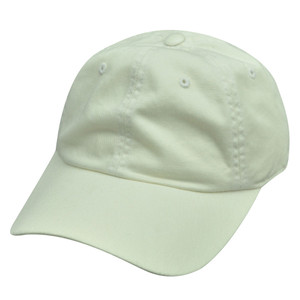 American Needle White Ladies Fit Blank Plain Relaxed Sun Buckle Hat Cap Solid