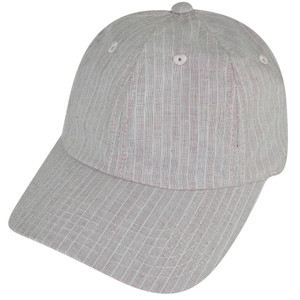 American Needle Blank Faded Red Relaxed Striped Sun Buckle Curved Bill Hat Cap