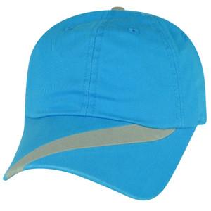 American Needle Side Stripe Deep Sky Blue  Plain Relaxed Slouch Hat Cap