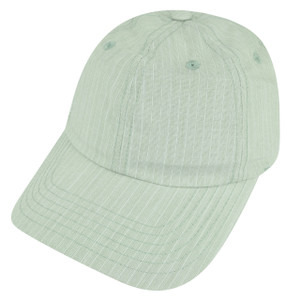 American Needle Plain Pale Green Striped Sun Buckle Relax Slouch Sports Hat Cap