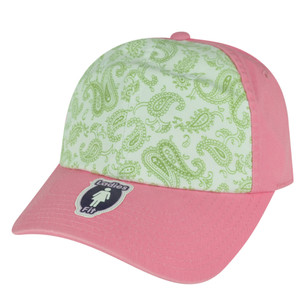 American Needle Two Toned Flowered Ladies Fit Pink Sun Buckle Relaxed Hat Cap