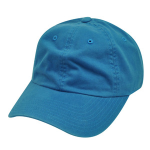 American Needle Blue Ladies Fit Womens Relax Blank Plain Solid Hat Slouch Cap