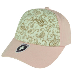 American Needle Two Toned Flowered Ladies Light Pink Sun Buckle Relaxed Hat Cap