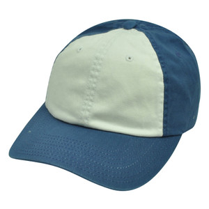 American Needle Two Toned Blue White Blank Plain Sun Buckle Relaxed Hat Cap