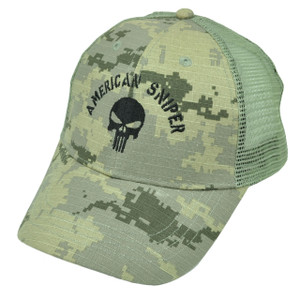 American Sniper Camouflage Camo Hat Cap Snapback Green Kyle Navy Seal Mesh Skull