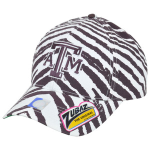 NCAA Texas A&M Aggies ATM Top of the World Smash Zubaz Zebra Snapback Hat Cap