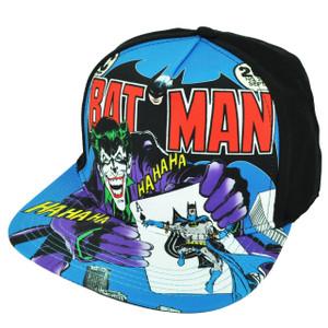 Batman Joker Super Hero Villain Flat Bill Sublimated Cartoon Hat Cap Snapback