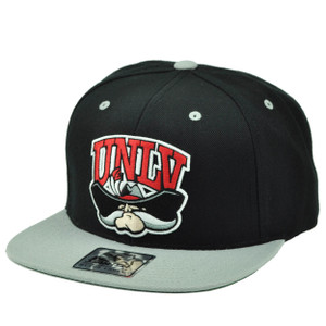 NCAA Starter UNLV Nevada Las Vegas Rebels Snapback Black Gray Hat Cap Flat Bill