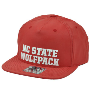 NCAA Starter North Carolina State Wolf Pack Snapback Red Hat Cap Flat Bill Sport