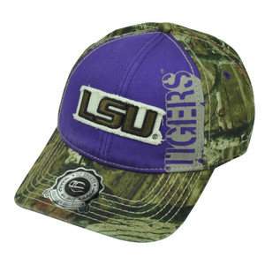 NCAA Louisiana State LSU Tigers Mossy Oak Camouflage Camo Purple  Hat Cap