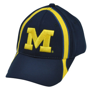 NCAA Michigan Wolverines  Hat Cap Navy Blue Adjustable Sport Jumbo Logo