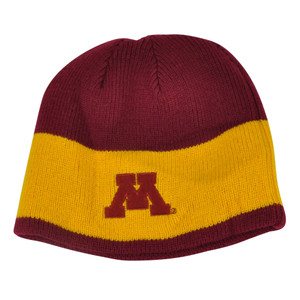 NCAA Minnesota Golden Gopher Reversible Knit Beanie Toque Cuffless Winter Hat