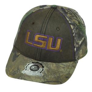 NCAA Louisiana State LSU Tigers Real Tree Camouflage Camo  Hat Cap Sport