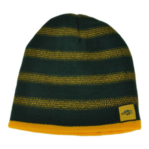 NCAA North Dakota State Bison Reversible Knit Beanie Cuffless Winter Hat Striped