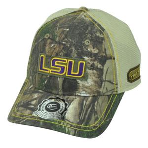 NCAA Louisiana State LSU Tigers Real Tree Camouflage Camo Mesh Hat Cap Trucker