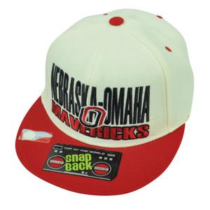 NCAA Nebraska Omaha Mavericks Flat Bill Snapback Top of the World Hat Cap White