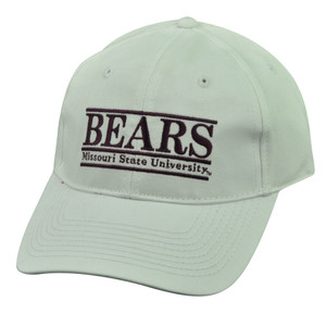 NCAA Missouri State University Bears Bar White Snapback Hat Cap The Game Retro