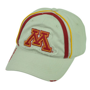 NCAA Minnesota Golden Gophers Distressed Sun Buckle Khaki Relaxed Slouch Hat Cap