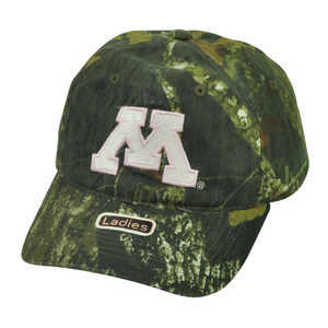 NCAA Minnesota Golden Gophers Womens Ladies Mossy Oak Camouflage Camo Hat Cap