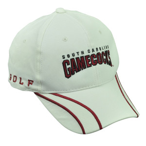 NCAA South Carolina Gamecocks  Adjustable Golf 1801 White Red Hat Cap USC