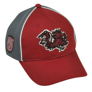 NCAA South Carolina Gamecocks Jersey Mesh  Two Tone Grey Red Hat Cap Sport