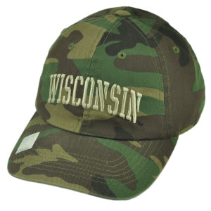 NCAA Wisconsin Badgers Camouflage Camo Sun Buckle Relaxed Slouch Hat Cap Sport