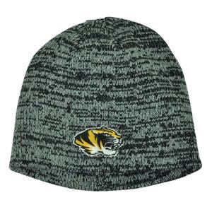 NCAA Missouri Tigers Knit Beanie Grey Cuffless Hat Winter Sport Toque Mizzou