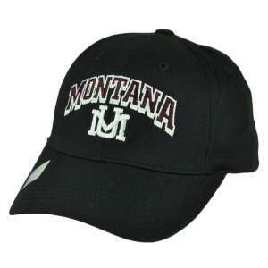 NCAA Montana Grizzlies Adjustable  Captivating Headgear Hat Cap Black