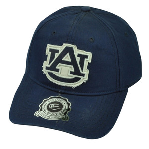 NCAA Auburn Tigers OC Sports Snapback Distressed Hat Cap Blue Garment Washed
